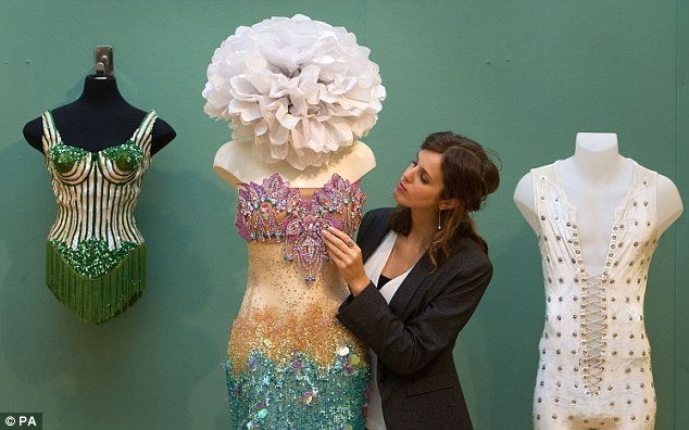 Glitter: Madonna's bra, a mermaid outfit worn by Katy Perry and Jagger's jumpsuit all sold for big money