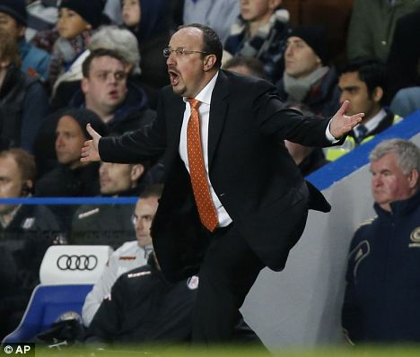 Raf justice: Many Chelsea fans are unhappy with appointment of Benitez as manager
