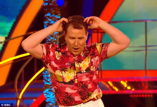 Cutting a rug: Meanwhile Richard has been dancing up a storm during his stint on Strictly Come Dancing