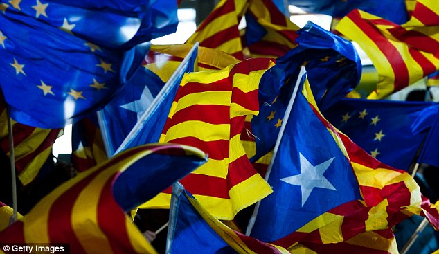 Independence: The people of Catalonia voted overwhelmingly for parties favouring the breaking away from Spanish rule