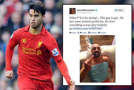 Liverpool's Suso tweet