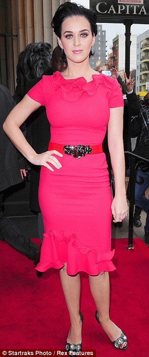 Unstoppable: Katy Perry celebrates being crowned Billboard Woman of the Year at a luncheon in New York on Friday