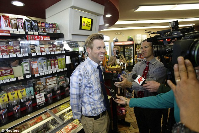 Second location: In Arizona, 4 Sons Food Store and Chevron gas station general manager Eric Seitz beamed while discussing their confirmed win at his store in Fountain Hills