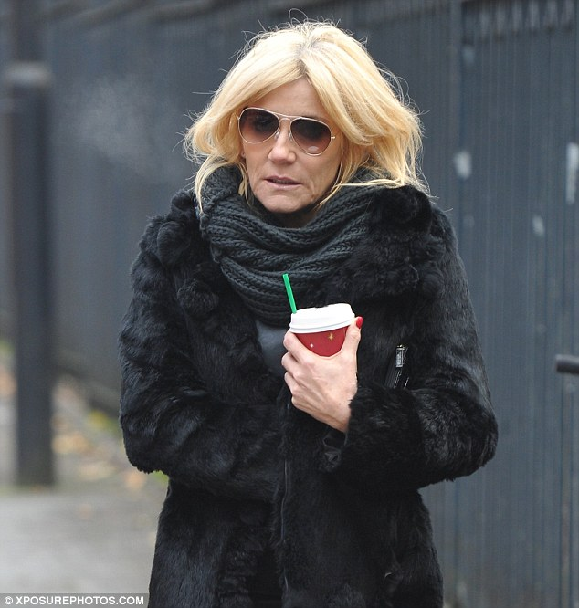 Pain: Michelle Collins has been living with a fractured shoulder without realising it was injured