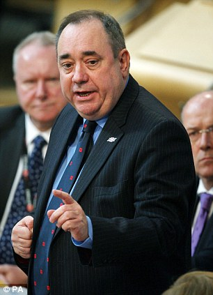 Popular: Alex Salmond has won the vote for 16 and 17-year-olds, who are thought to be more radical than their elders