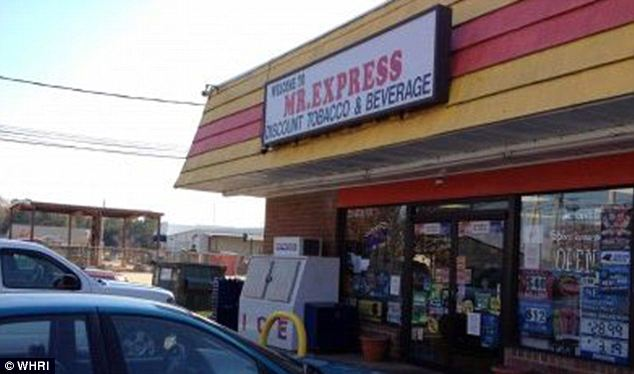 The Mr Express store where Jerry Hucks bought his winning Powerball ticket. The shop received $10,000 in commission for selling the winning entry