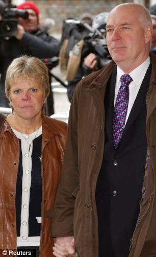 Bob (R) and Sally Dowler, the parents of murdered schoolgirl Milly Dowler