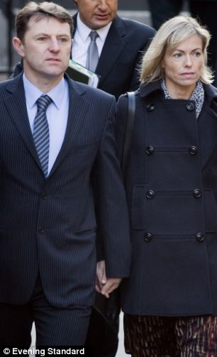 Too angry: Gerry and Kate McCann, parents of abducted Madeline McCann refused to attend the meeting with the Cultutr Secretary after David Cameron's response to the Leveson Report