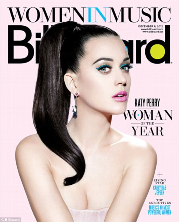 She's got the look: Katy shines on the Women in Music cover of Billboard magazine