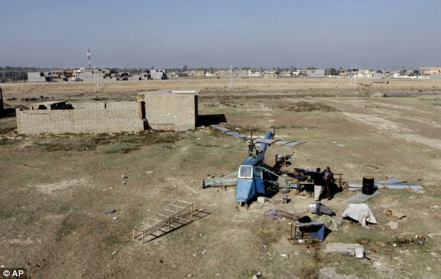 The helicopter is being built in Muqdadiyah, a city of 300,00 located 60 miles north of Baghdad in Iraq