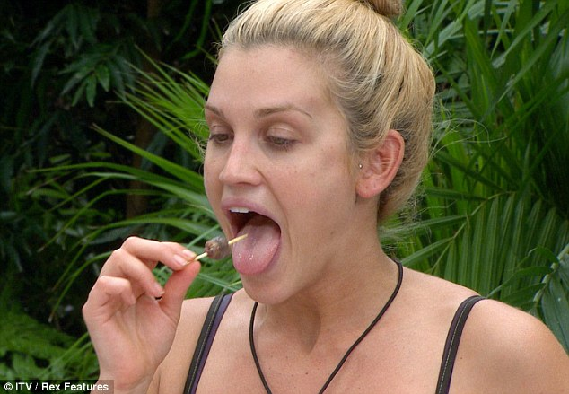 'How much of the penis do I have to eat?' Ashley Roberts eats deep-fried camel penis