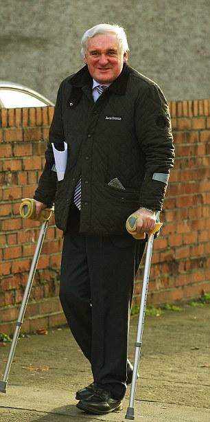 Active: Bertie Ahern on his home turf in Drumcondra this week