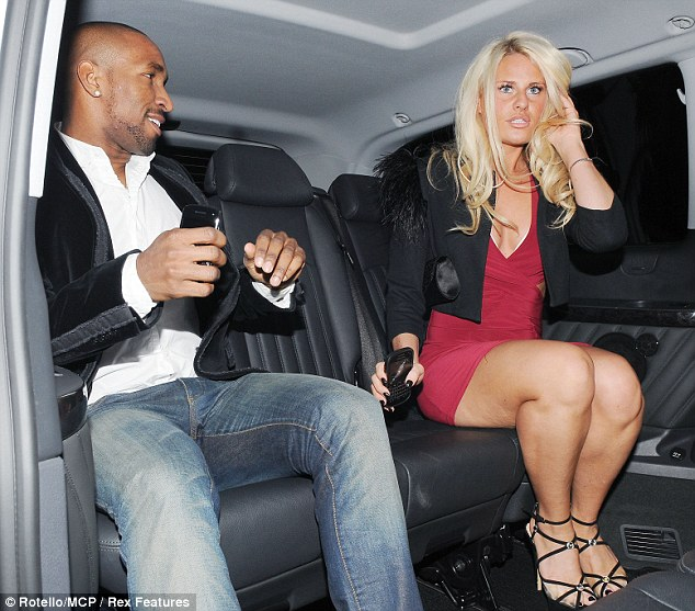 Ladies' man: In the past Jermain has dated Alexandra Burke, Chantelle Houghton and Imogen Thomas