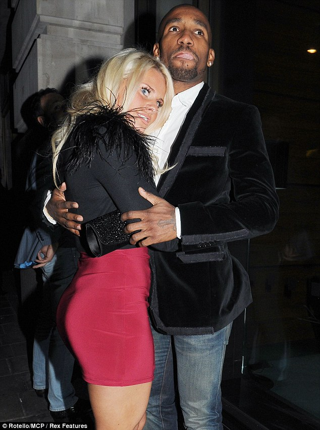 Date night: Jermain Defoe was seen leaving Noviko in London on Saturday evening with a mystery blonde