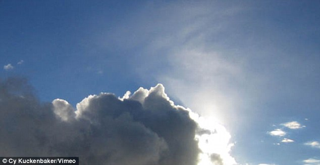 He videoed clouds moving across the sky on a sunny day to serve as a pointed for passing time
