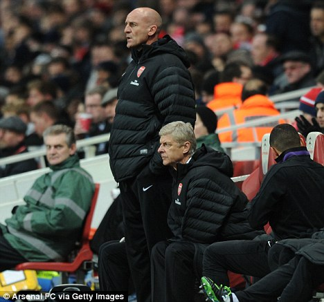 Flop fury: Steve Bould hit out at Arsenal's under-performing stars after they slipped back to 10th in the Premier League with home defeat by Swansea