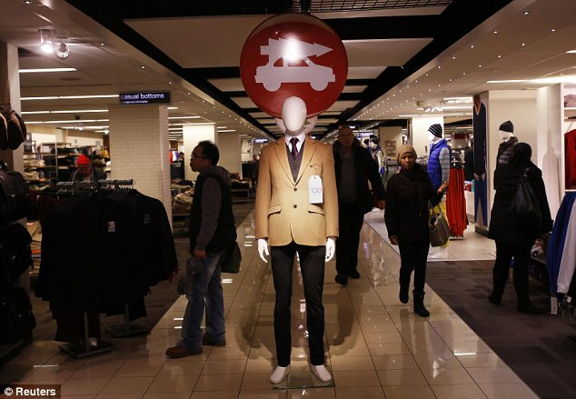 A mannequin is seen at the J.C. Penney Herald Square department store location in New York November 27, 2012