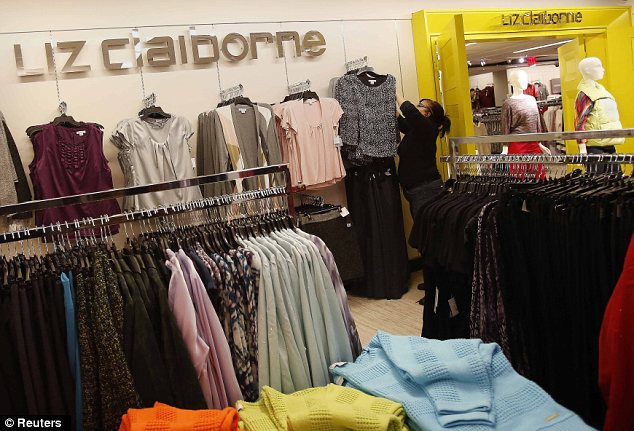 A Liz Claiborne section of the J.C. Penney Herald Square department store location