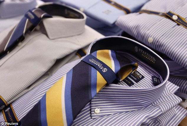 Shirts and ties combined are seen unwrapped