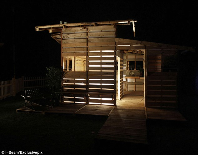 Home from home: The Pallet House can easily become a permanent structure, and could be deployed in developing countries