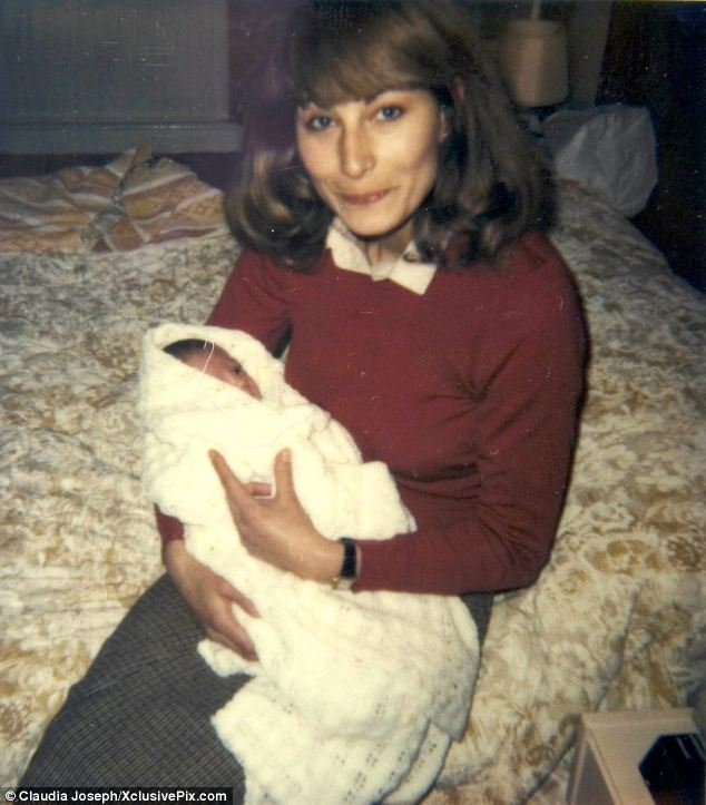 Intimate snapshot: Carole Middleton tenderly cradles her first child Kate, just 15 days old