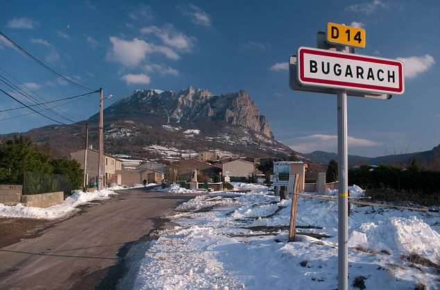 Mayan teaching: According to prophecy/internet rumour, aliens will emerge from their 'spaceship garage' hidden deep within the town's imposing Pic de Bugarach mountain and pluck anyone in the vicinity to safety