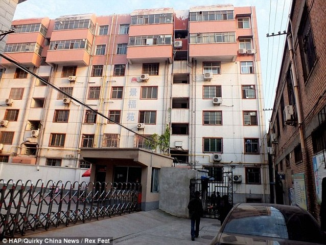 The apartment block where Hao Li created the underground cellar in August 2009 to hold women captive