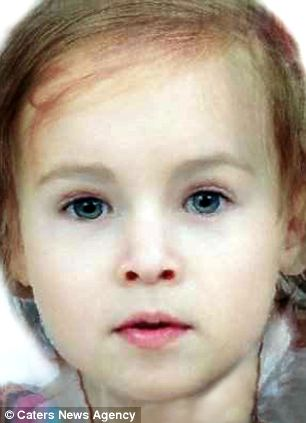 A 'morph' image of how Prince William and the Duchess of Cambridge's baby might look if it is a girl