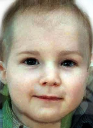 A 'morph' image of how Prince William and the Duchess of Cambridge's baby might look if it is a boy