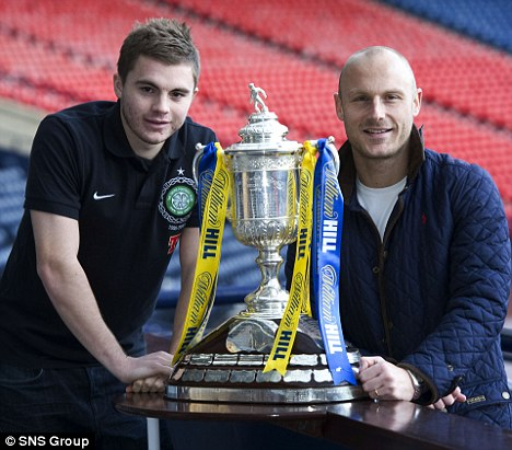 Up for the cup: Celtic's James Forrest (left) hopes to face Raith's Simon Mensing