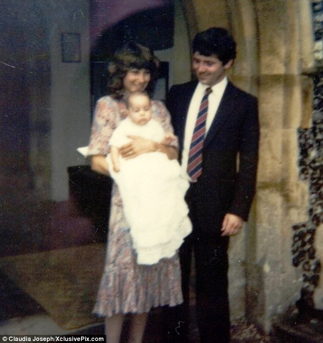 Parents Carole and Michael pictured at Kate Middleton's christening at their local church in Berkshire in 1982