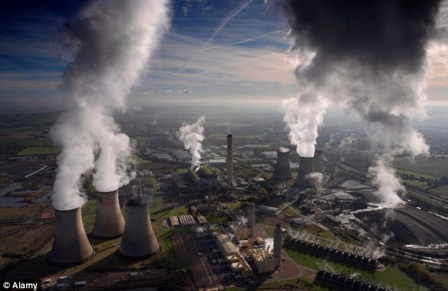Mr Osborne believes up to 30 gas-fired power stations will be needed to produce 26 gigawatts of electricity under plans to replace ageing coal and nuclear plants by 2030. Pictured: Didcot power station