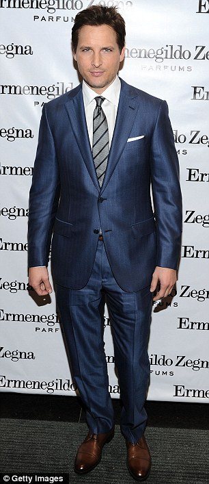Suited and booted: Actors Peter Facinelli and Dan Stevens scrubbed up for the evening