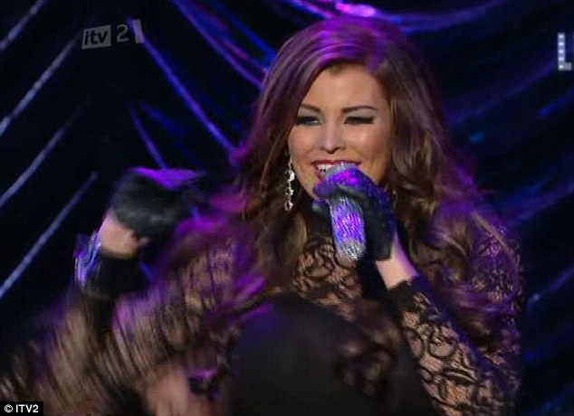 Pop star: Jessica Wright's performance prompted speculation on Twitter she was miming
