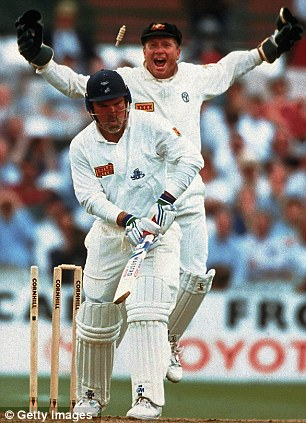 Ball of the century: Mike Gatting was bowled all ends up in 1993