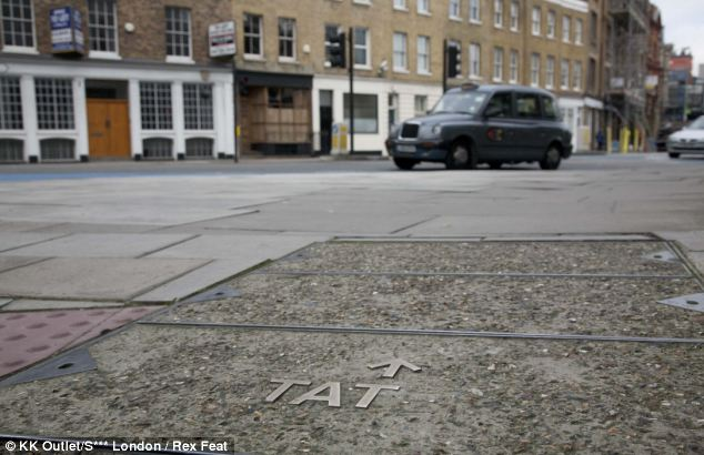 Enticing: An eagle-eyed Londoner spotted this unfortunate pavement marking that lost some its letters