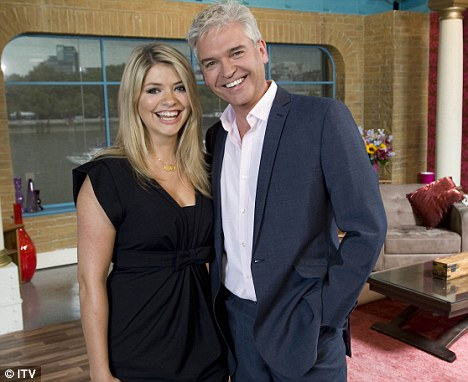 Friendly: Holly Willoughby co-hosts ITV¿s This Morning with Phillip Schofield