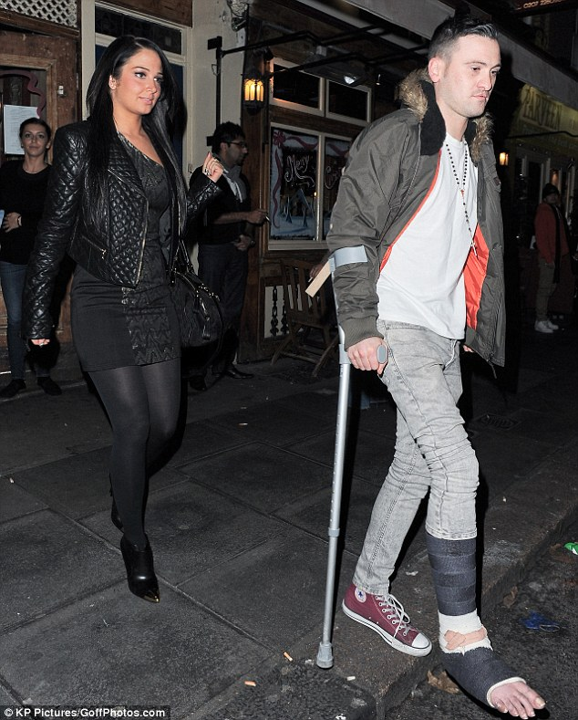 The Female Flop? Tulisa spent the evening at Men and Laz restaurant in Islington with a group of friends, including her PA Gareth Varey