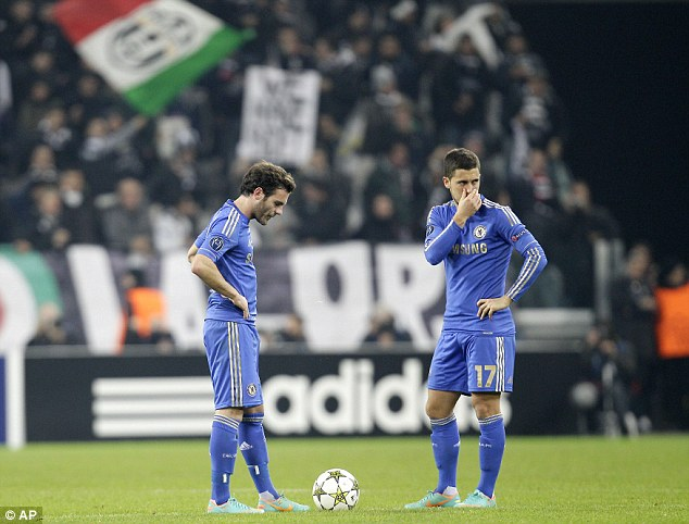On the brink: Chelsea face an early exit from the Champions League just months after winning the Final in Munich