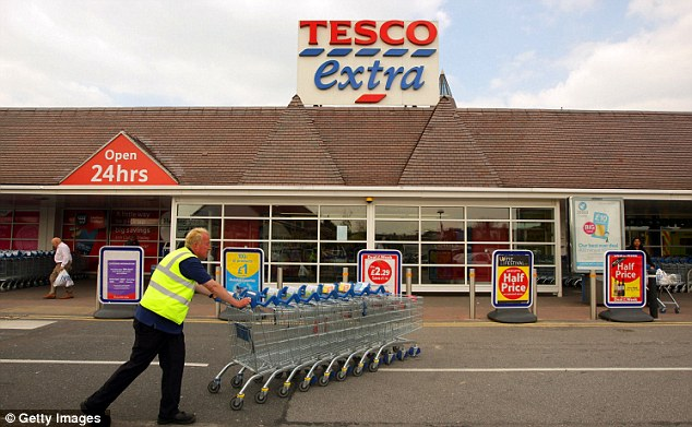 Sales in red: Tesco admitted non-food performance was 'not good enough' as the group reported a 0.6 per cent fall in like-for-like sales