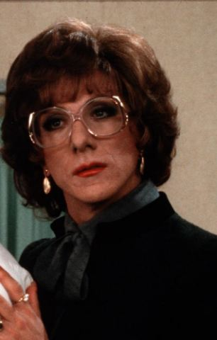 Dustin Hoffman dressed in drag for his 1982 hit film Tootsie