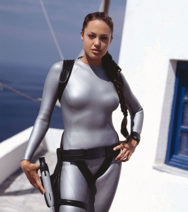 Angelina Jolie starring as Lara Croft, Tomb Raider
