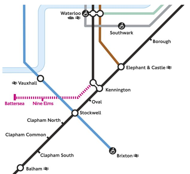Extension: Money is being allocated for two more stops on the London Underground Northern Line