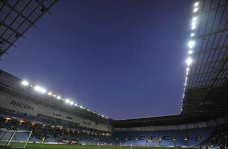 Empty: Coventry City have 21 days to pay their £1.1million unpaid rent