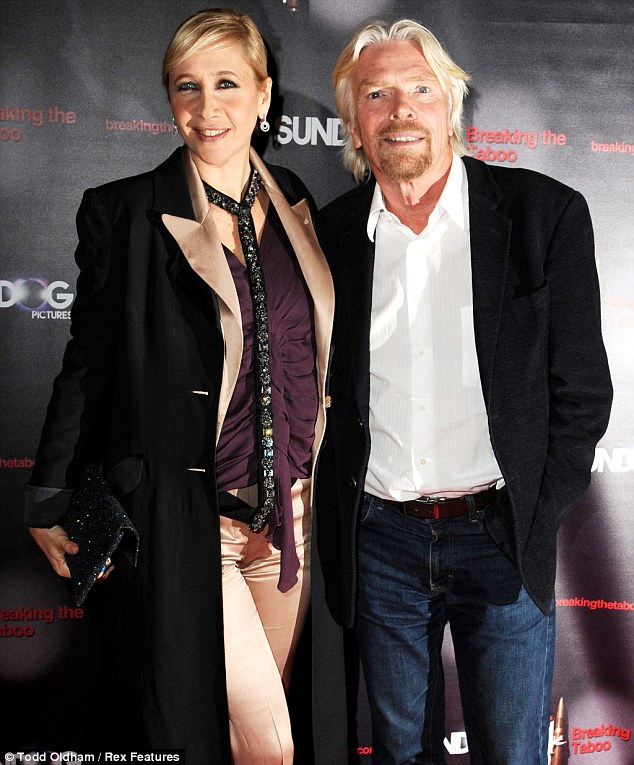 War on drugs: Tania Bryer and Sir Richard Branson have definite opinions on whether certain drugs should be legalised