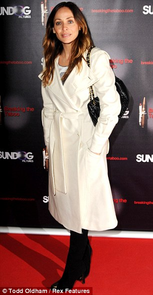 Simply chic:  Natalie Imbruglia looks conservative for the premiere