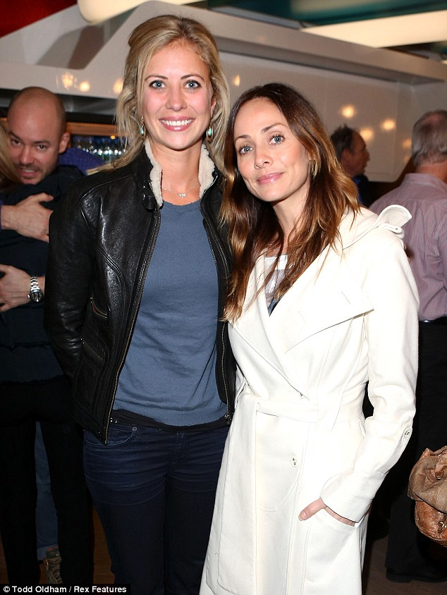 Support: Holly Branson and Natalie Imbruglia cosy up at the screening