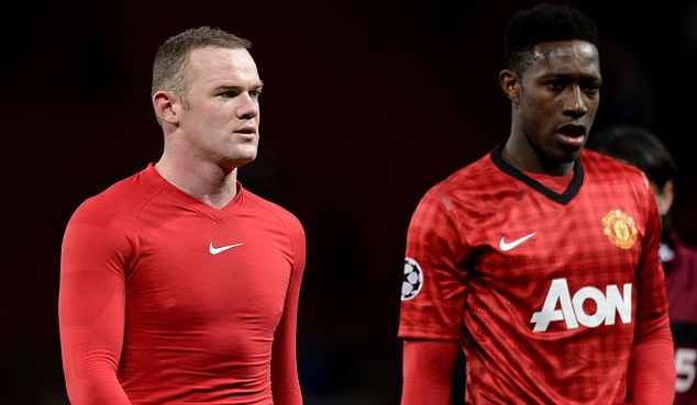 Defeat: Rooney and Co were on the wrong side of a 1-0 scoreline at Old Trafford