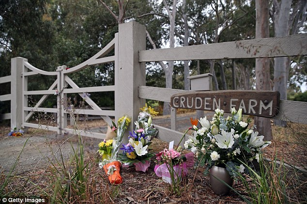 Country in mourning: Floral tributes have been laid down at Dame Elisabeth's home in Melbourne, Australia