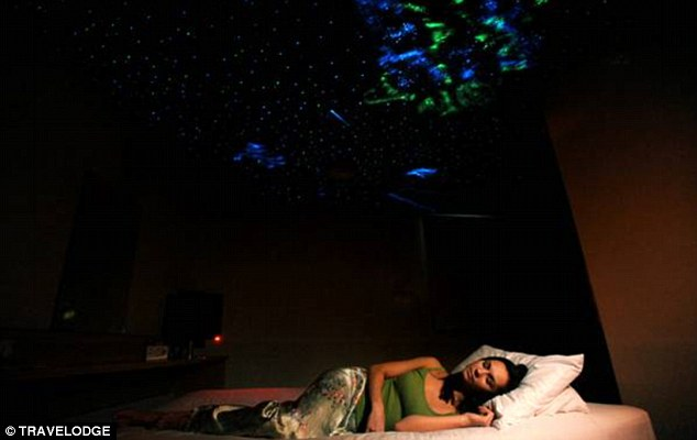 Starry night: Guests at the Travelodge can enjoy a night under the stars in their new room